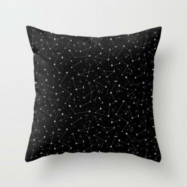 18/'/' Vintage Letter Throw Pillow Case Sofa Waist Cushion Cover Home Office Decor