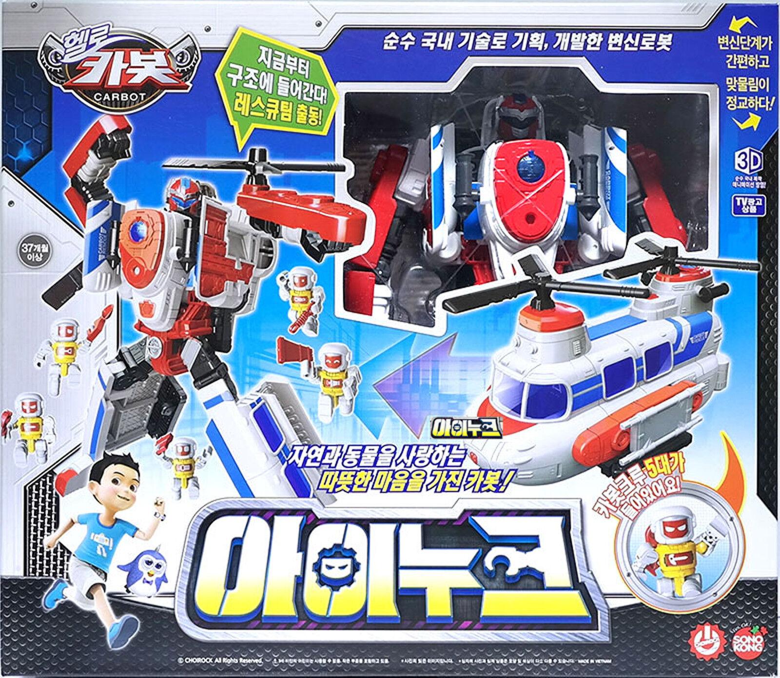 Hallå bilbot Inuke Transformer Robot bil leksak med 6 Engineer Crews