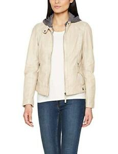 Women's Tags Oakwood Small 519 Beige Jacket With ivoire Leather New UWRa7wSq