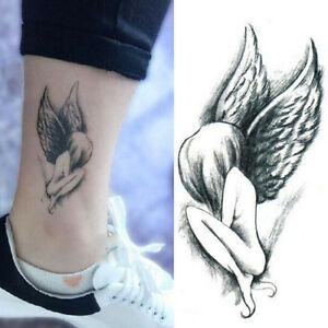 1-Sheet-Elegant-Angel-Wing-Girl-Design-Tattoo-Sticker-Waterproof-Arm-Body-Art