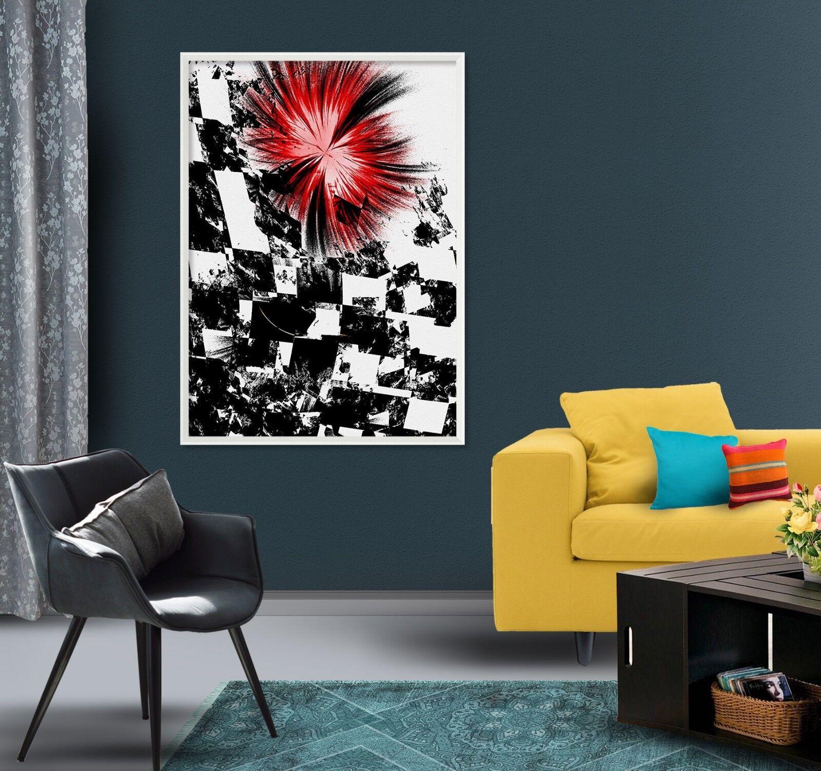 3D Negro Y blancoo Pintura 47 Enmarcado Cartel Decoración del Hogar Pintura de Impresión Arte AJ