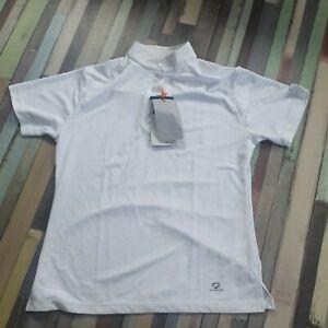 Aubrion short Sleeve stock Show Shirt UK 14 16  Large white