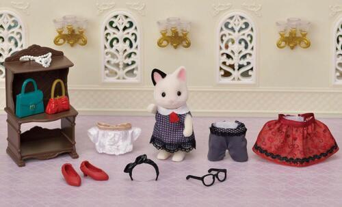 Sylvanian Families  FASHION PLAY SET TOWN GIRL TVS-10 CHARCOAL CAT