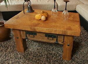 Holztisch rustikal  Couchtisch, Holztisch, Rustikal Unikat, Massivholz, Vintage, Tisch ...