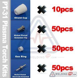 160pc-PT-31-JG40-LG-40-LT5000D-Plasma-ElectrodeTip-Shield-Gas-Ring-Cutter-Torch