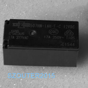 12VDC Relay 1PC New 507-2CH-F-C SONG CHUAN