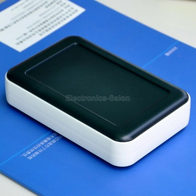 126x81x30mm HQ Hand-Held Project Enclosure Box Case, Black-White, ABS+PP.