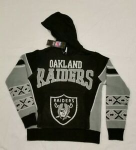 8b092ed786 Image is loading OAKLAND-RAIDERS-NFL-Sweater-Ugly-Christmas-Hoodie-YOUTH-