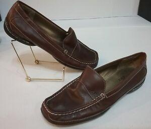 AK-ANNE-KLEIN-iFlex-Women-s-Brown-Slip-On-Loafer-Shoes-Size-6-5-M