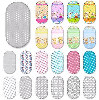 Cotone Lenzuolo Stampato Design For Baby Culla In Vimini Carrozzina Basinet 80x38 Cm-