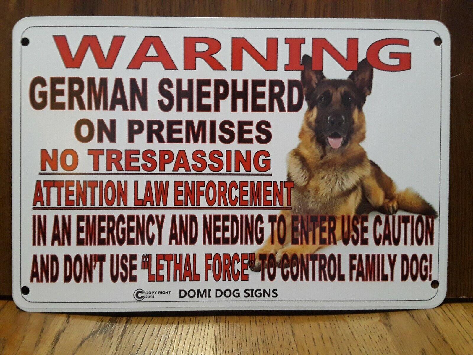 German Shepherd Ring Doorbell /& Run 9x12 Aluminum Sign