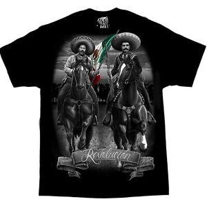 Pancho-Villa-Emiliano-Zapata-Mexico-Chicano-Art-David-Gonzales-DGA-T-Shirt