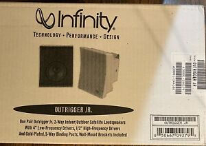 Infinity-Outrigger-Jr-Indoor-Outdoor-Speakers-New-in-box-white-never-opened