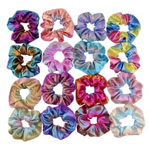 10Pcs Shiny Metallic Hair Scrunchies Ponytail Holder Elastic Hair Ties for Girls
