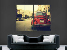 VW GOLF RED BEETLE  CLASSIC  GIANT WALL POSTER ART PICTURE PRINT LARGE HUGE