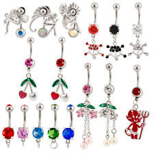 Lot 25 14G Assorted Styles Naval Belly Rings Mixed Barbells Body Jewelry BB-1001