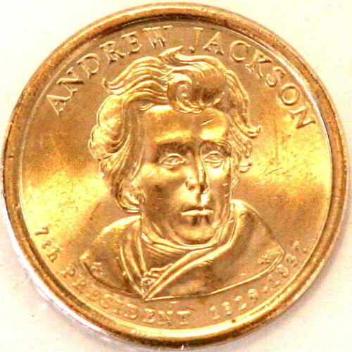 2008 D Andrew Jackson Presidential One 1 Dollar Coin