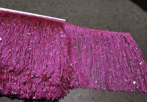 Nappa Frangia//PAILLETTES FRANGE 20cm DROP 8 COLORI DIVERSI X 1 Iarda
