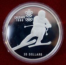 Canadá: 20 Dólar 1985,Olympia Calgary Juegos Olímpicos de invierno. Plata,