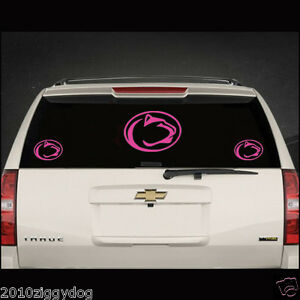 Details About Penn State Girls Car Vinyl Sticker Decal Hot Pink Penn State Nittany Lions Decal