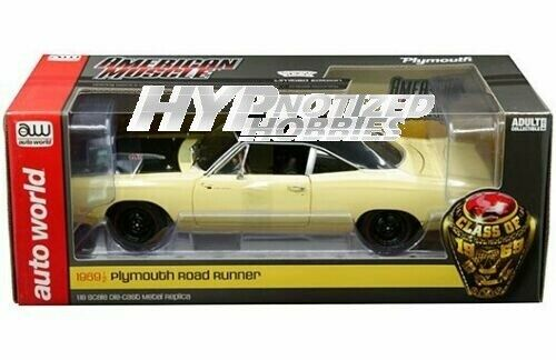 AUTO WORLD 1 18 1969 1 2 PLYMOUTH ROAD RUNNER Y2 SUNFIRE Gelb AMM1179