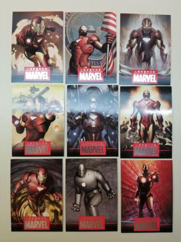 9 cards total 2010 Legends of Marvel L1-L9 SciFiHobby cards