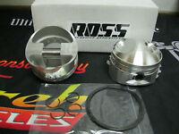 Ultima 3.625 Bore Shovelhead Piston Set By Ross W/ Rings, Clips & Pins