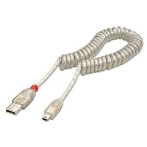 Lindy-2-m-USB-2-0-Enroule-Cable-type-A-vers-mini-B-Transparent