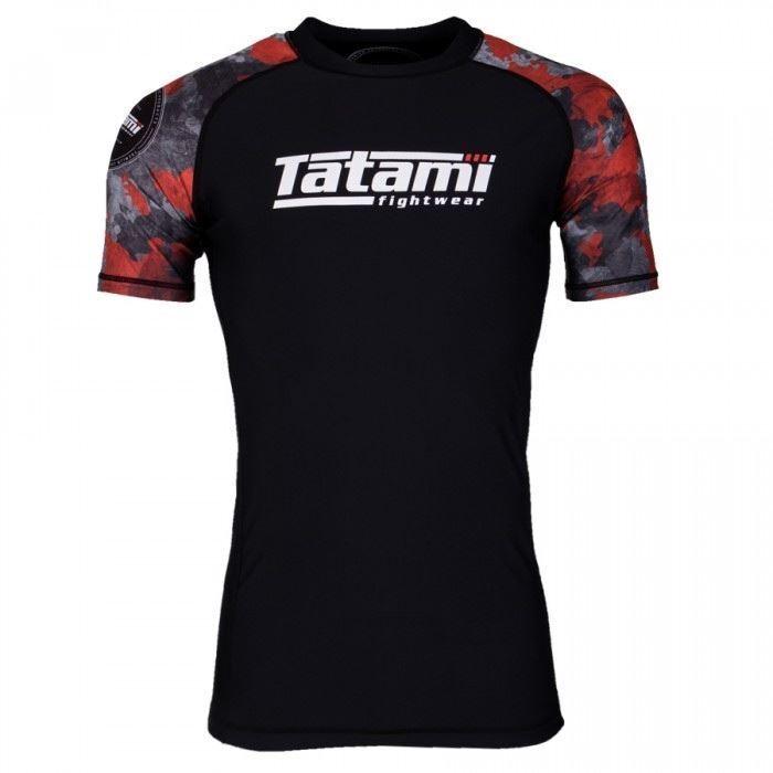 Tatami Renegade Rot Bjj Rash Guard Herren Kurzärmlig Jiu Jitsu Kompression-Oben