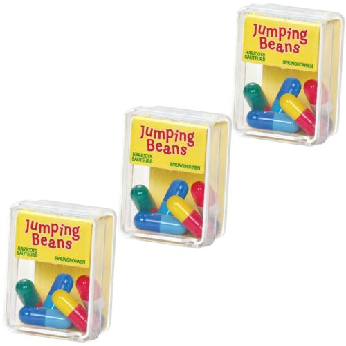 Scatola da 5 Jumping Bean giocattolo Ragazza Ragazzo regalo di Natale Party Bag Natale Stocking Filler
