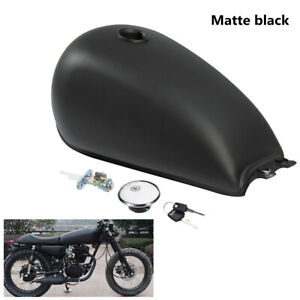 Motorcycle-9L-2-4-Gal-Fuel-Gas-Tank-For-Suzuki-GN125-GN250-Cafe-Racer-Custom
