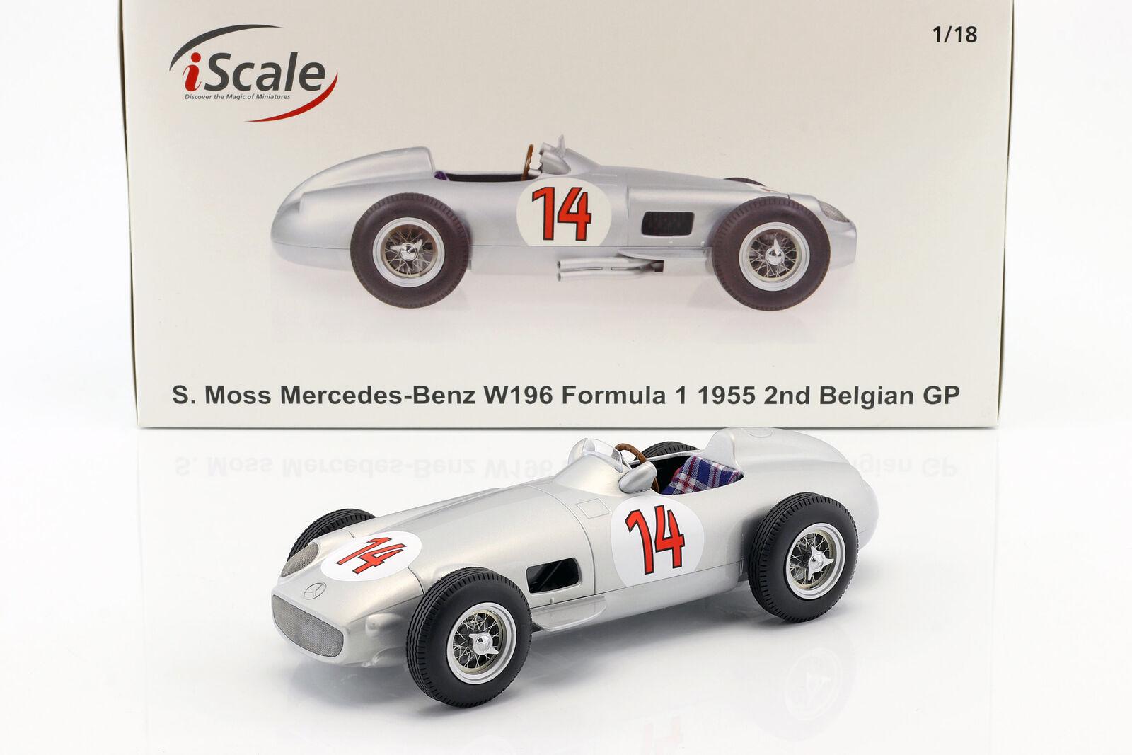 1:18 iScale Mercedes W196 GP Belgium Moss 1955