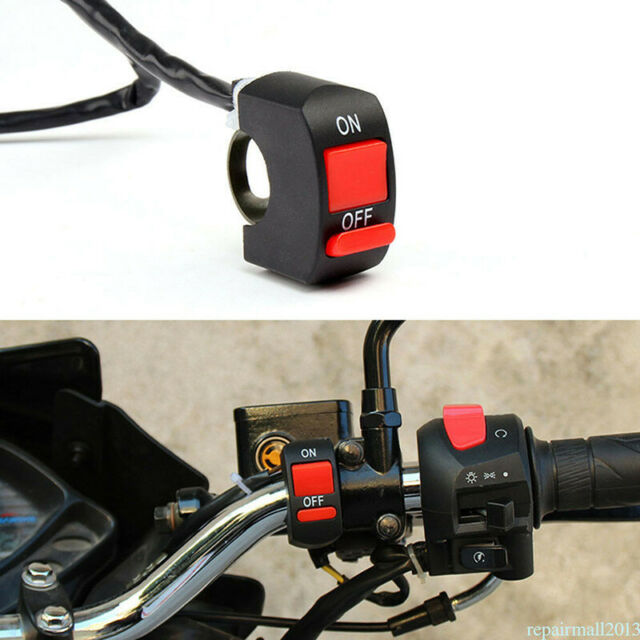 Motorrad-LED-Lichtschalter Lenkerhalterung mit EIN / AUS, aber ueSPUKZSHF_hc df