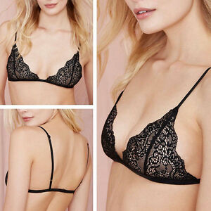 1b6164388b4dd Image is loading Sexy-Women-Floral-Sheer-Lace-Triangle-Bralette-Unpadded-