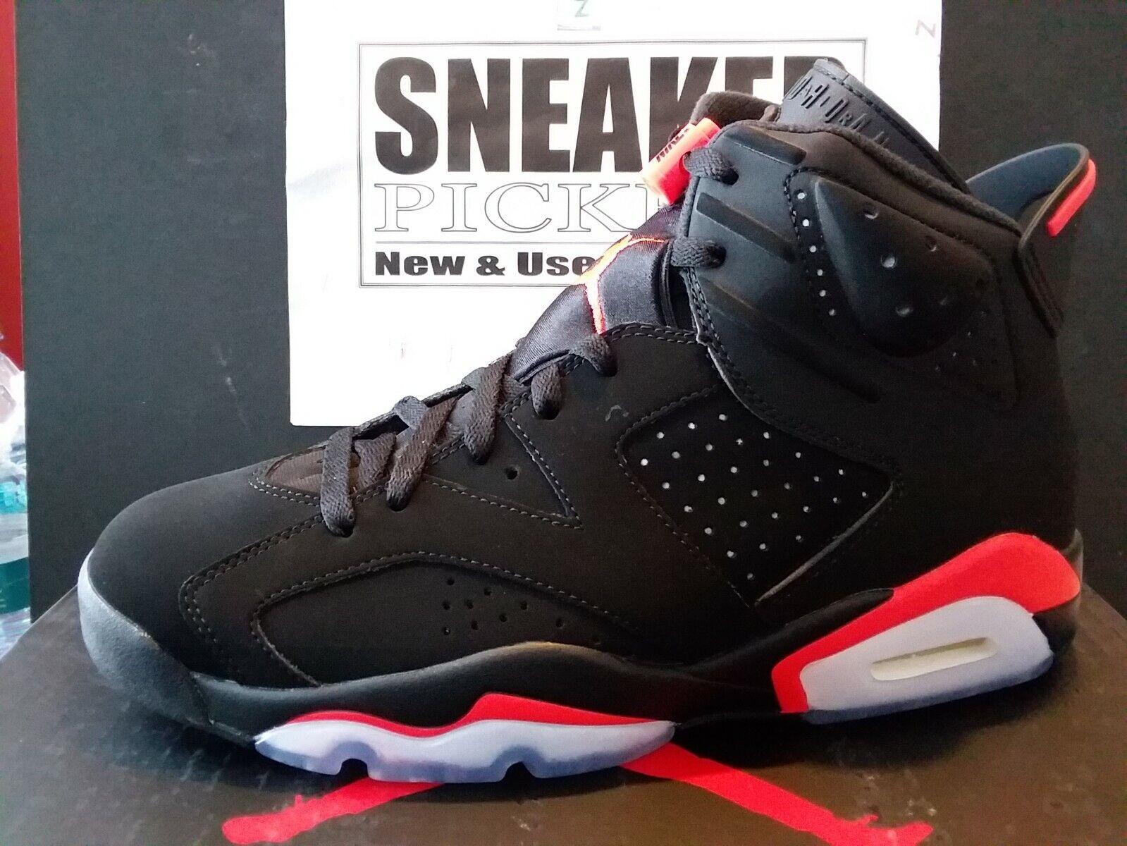 Air Jordan 6 Retro OG - Black   Infrared - 384664 060 - Mens 9.5   Womens 11