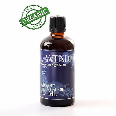 Mystic Moments | Lavender Organic Essential Oil - 100% Pure - 100ml (CO100LAVE)