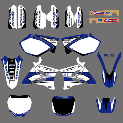 TEAM GRAPHICS/&BACKGROUNDS DECALS For YAMAHA YZ125 YZ250 2002 03 04 05 06 07 08 C
