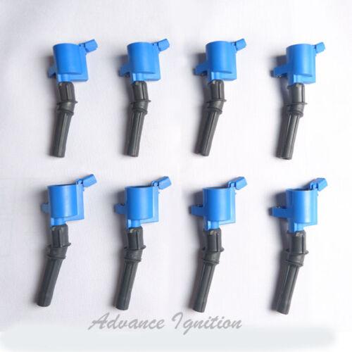 For FORD E150 E250 E350 V8 V10 IGNITION COIL 8 Epoxy Blue DG508 UFD267B*8 ic278