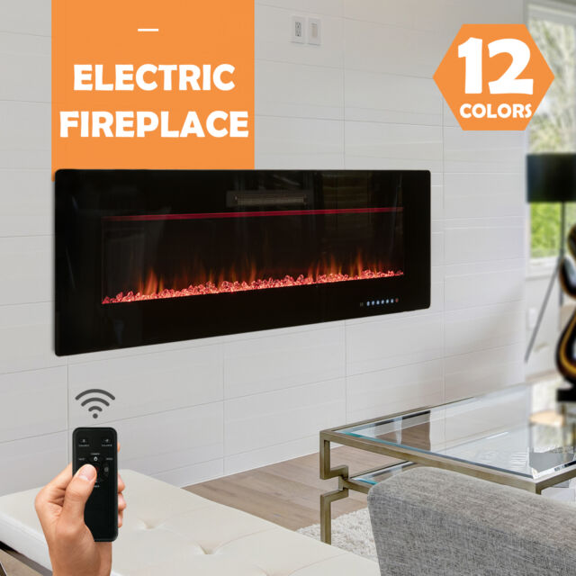 23 In Freestanding Electric Fireplace Insert Heater With Remote Control For Sale Online Ebay
