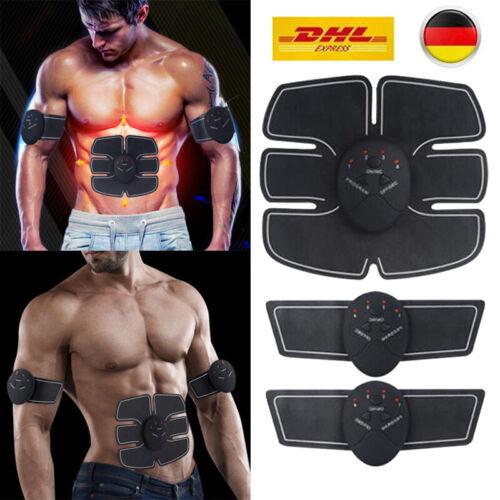 Stimulator Bauchmuskeltrainer EMS Trainingsgerät Elektro Exerciser Sports Pad DE