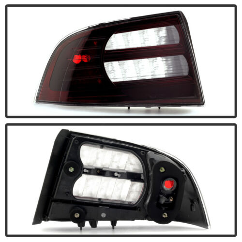 Blk Tinted 04-08 Acura TL Tail Lights Brake Lamps Left+Right 2004 2005 2006 2007
