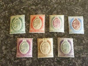 MALTA-POSTAGE-STAMPS-SG38-44-SOME-LIGHT-TIP-TONING-LIGHTLY-MOUNTED-MINT