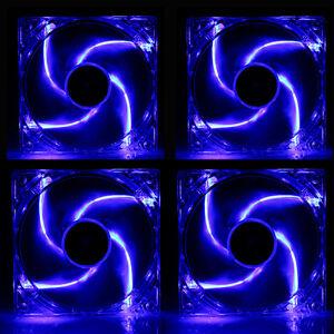 4-PCS-4-LED-COOL-amp-QUIET-120MM-NEON-BLUE-LED-MOLEX-PC-COMPUTER-CASE-COOLING-FAN