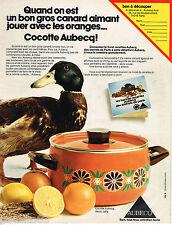 PUBLICITE ADVERTISING 055  1973  AUBECQ  Cocotte  décor JAFFA