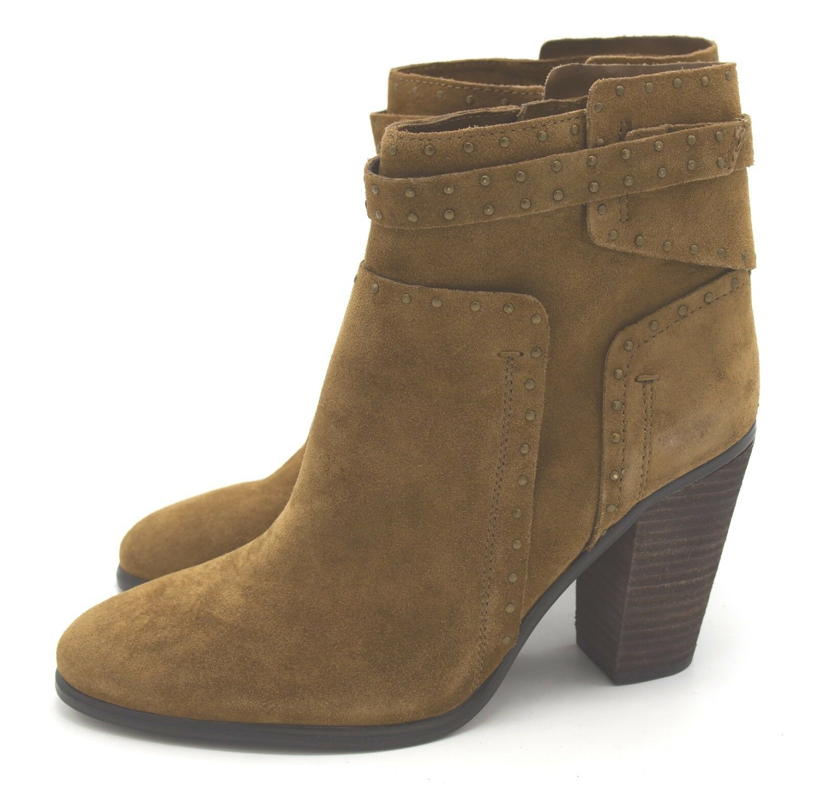 J6663 New Womens Vince Camuto Faythes Boulder Suede Leather Bootie 8 M