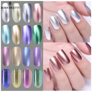 BORN PRETTY 6ml Metallic Gel Nail Polish UV LED Holographic Mirror ...