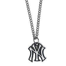 New York Yankees Chain Necklace Metal Logo MLB Licensed Jewelry SM