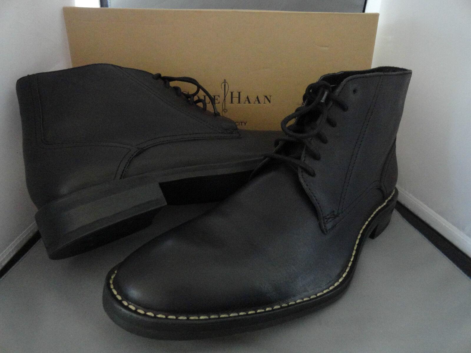 Nuevas botas De Encaje COLE HAAN CANTON II Para Hombre De Cuero Tobillo botas Negro + M