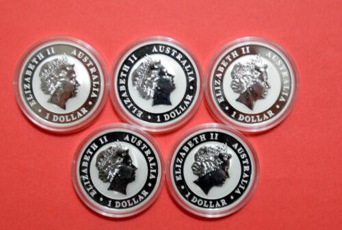1 Oz Pure Silver Australian   KOOKABURRAS 2014 Perth Mint Five