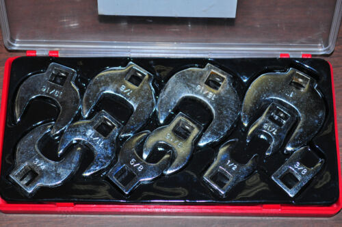 "CROW FOOT WRENCH 11 PIECES 3//8/"" DRIVE SAE SIZE 3//8/"" TO 1/""  INCH CROWFOOT SET"